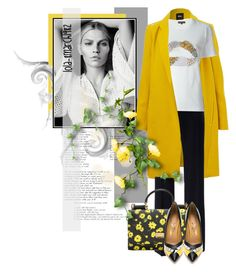 """Untitled #1920"" by lola-8march1982 ❤ liked on Polyvore featuring Vanessa Seward, Dolce&Gabbana, Markus Lupfer, Salvatore Ferragamo, floral, black, dolceandgabbana and yelow"
