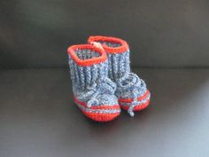 Baby bootie by IreneFrydkjaer on Etsy
