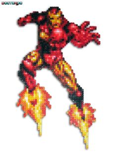 sandylandya@outlook.es  Iron Man perler Bead Sprite by DrOctoroc on deviantart