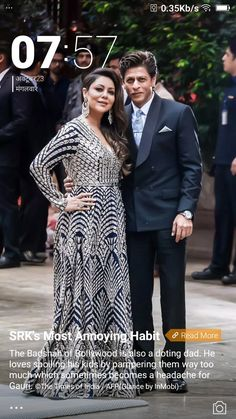 Indian Celebrities, Bollywood Celebrities, Bollywood Fashion, Bollywood Actress, Shahrukh Khan, Anarkali Dress, Anarkali Suits, Famous Couples, Muslim Women