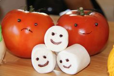 """That's just a tomato and some marshmallows... inspired by """"Cloudy With a Chance of Meatballs, II"""""""