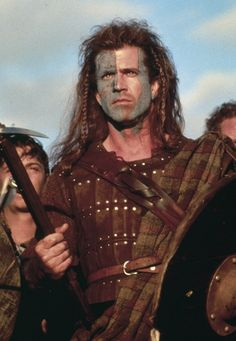 "Mel Gibson as William Wallace in 1995's ""Braveheart"""