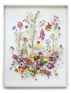 """Anne Ten Donkelaar's collages take up less space and are some of the prettiest """"flower gardens"""" I've ever seen."""
