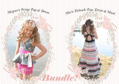 BUNDLE: Megan's Wrap Top & Dress AND Mia's Tieback Top, Dress and Maxi. PDF sewing pattern for toddler girl sizes 2t - 12. - Simple Life Company