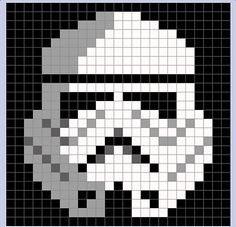 Star Wars Stormtrooper Pixel Blanket - Star Wars Stormtroopers - Ideas of Star Wars Stormtroopers - storm trooper pixel blanket Crochet Afghans, Crochet Granny, Crochet Blanket Patterns, Baby Blanket Crochet, Stitch Patterns, Pixel Crochet Blanket, Crochet Blankets, Crochet Baby, Crochet Pixel