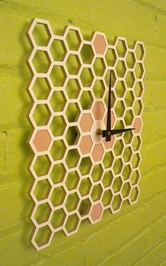 Honeycomb Modern wall clock from Pilot Design