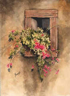 Window Niche Painting by Sam Sidders - Window Niche Fine Art Prints and Posters for Sale
