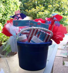 This is a cute gift idea for end of the year/teacher gift or when going to a BBQ party.