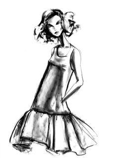 Fashion illustration by Lara Wolf #fashion #illustration