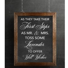 Lavender Toss Wedding Sign (Not a real chalkboard) Chalkboard Print by FreshVibeDesign on Etsy https://www.etsy.com/listing/538087827/lavender-toss-wedding-sign-not-a-real