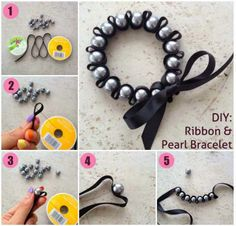 Crafts to Make and Sell - DIY Ribbon and Pearl Bracelet - Easy Step by Step Tutorials for Fun, Cool and Creative Ways for Teenagers to Make Money Selling Stuff - Room Decor, Accessories, Gifts and More http://diyprojectsforteens.com/diy-crafts-to-make-and-sell