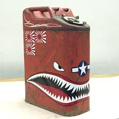 Metal Projects, Welding Projects, Painted Signs, Hand Painted, Vintage Oil Cans, Pinstripe Art, Jerry Can, Garage Art, Scrap Metal Art