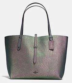 COACH MARKET TOTE IN HOLOGRAM LEATHER #Dillards