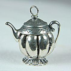 Sterling Silver Melon Teapot Bali Teapot (16mm)