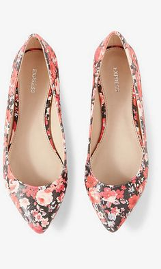 FLORAL POINTED TOE FLAT from EXPRESS