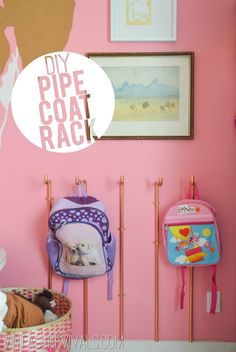 DIY Copper Pipe Coat Rack Tutorial @ Vintage Revivals