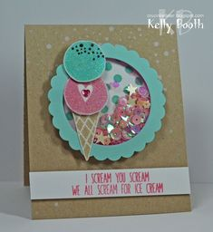 A shaker card by Kelly Booth using brand New Simon Says stamp from the Color of fun release. #ssscoloroffun