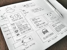 Inspiration Mobile #16 : Croquis et Wireframes | Blog du Webdesign