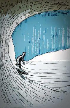 Maus illustrations #surfart #surfartist