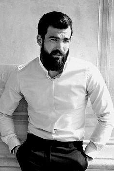 Beard And Mustache Styles, Beard No Mustache, Hair And Beard Styles, Hair Styles, Hairy Hunks, Hairy Men, Beard Suit, Hipster Beard, Beard Grooming