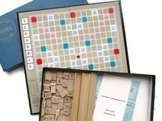 Vintage French Edition Scrabble Game 1955 by PaperCreationsbyDeb, $65.00