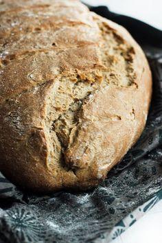 Rustic wheat, date and walnut bread