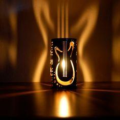 Rock & Roll Guitars - Decorative Metal Candle Holder. $24.95, via Etsy.