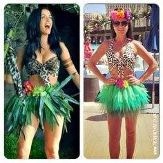 Katy Perry inspired neon Tutu Set Roar Costume Outfit Leopard Halter Neck Top Jungle Tutu Queen - free flower crown (45.00 USD) by tutufactory