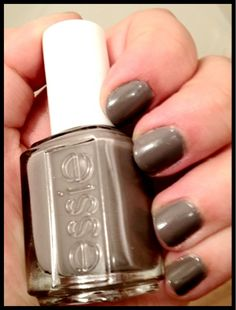 #Essie #Chinchilly. This baby lasts forever on my nails! www.laptopsandlipgloss.blogspot.com