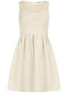 Ivory daisy boucle dress by Dorothy Perkins