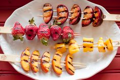 Get your creative juices flowing with grilled fruit! In just minutes you can achieve sweet caramelization that's a no-brainer for dessert, but don't miss bringing them to the table as an appetizer or side dish, or saving them for breakfast the next day. It's easy to mix and match flavors and fruits to add color and jazz to any meal.    Part of the Swedish Healthy Recipes collection (heart healthy, recipe, dinner).