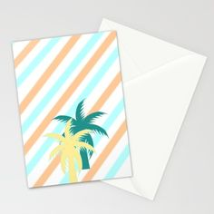 A #card that will remind you of your #tropical #summer #palmtree #society6 #stationery
