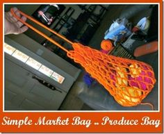 Tracy's Crochet Bliss: Simple Market Bag / Produce Bag—FREE PATTERN