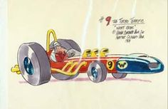 Colour Concept of No 9 The Turbo Terrific from Wacky Races