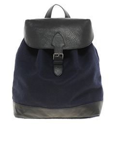 ASOS felt and leather back pack.