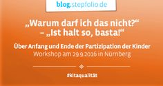 Workshop: Partizipation der Kinder. Dieser Workshop wurde auf dem ergovia Fachtag Kita gehalten von Frau Marion Lepold und Frau Christine Krijger-Böschen. Mehr dazu: https://blog.stepfolio.de/ergovia-fachtag-kita-2016/ueber-anfang-und-ende-der-partizipation-der-kinder #Partizipation #Kinder