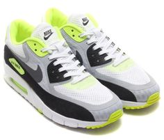 Nike Air Max 90 Breathe – White – Wolf Grey – Volt – Black