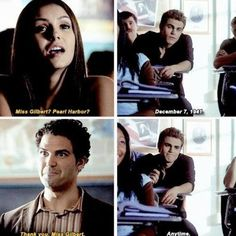 """Stefan """"miss Gilbert"""" is not your name c'mon now lol"""