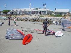 Getting ready to windsurf! Windsurfing, Water Sports, Kayaking, South Africa, Cape, Fun, Travel, Mantle, Kayaks
