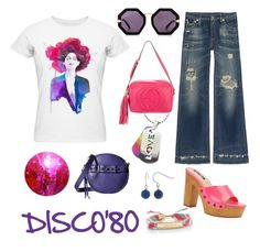 """Disco"" by explorer-145728669310 on Polyvore featuring мода, R13, She + Lo, Bridge Jewelry, Karen Walker, Michael Antonio, Gucci и Kate Spade"