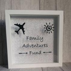 Travel Shadow Boxes, Diy Shadow Box, Shadow Box Frames, 3d Frames, Money Saving Box, Money Box, Vinyl Crafts, Diy And Crafts, Cadre Diy