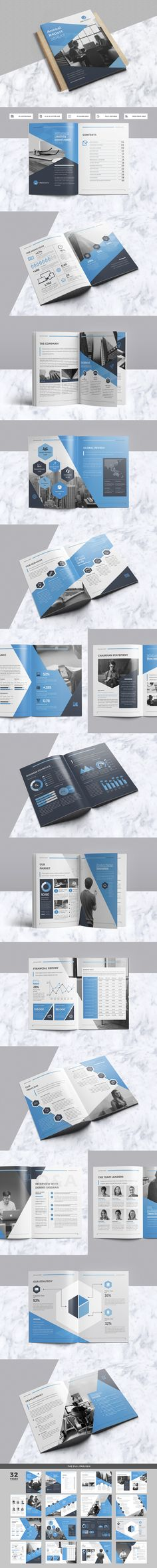 Professional, Creative and High Quality Annual Report 28 Pages A4 - annual report template