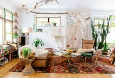 Bohemian interieur met urban jungle touch