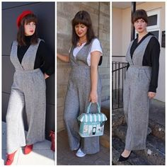 Here is my Rachel Jumpsuit by @akpatterns styled three different ways. We just uploaded a new video to our Stitch Sisters channel all about it. Swipe ⬅️to see how @sodburysewing styled her Nikki Cardigan too! Link in bio..#stitchsisters #youtubechannel #sewingvlog #diyfashion #diystyle #sewing #autumnstyle #streetstyle #ootd #diyootd #mystyle #imakemyclothes #racheljumpsuit #nikkicardigan Diy Fashion, Autumn Fashion, Channel, Sisters, Trousers, Jumpsuit, Pants, Overalls, Fall Fashion
