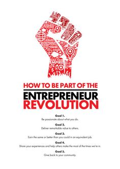 The participants in the entrepreneur revolution have these 5 goals in common. Business Advice, Start Up Business, Business Entrepreneur, Job Career, Career Advice, Entrepreneur Inspiration, Business Inspiration, Revolution Poster, Creative Destruction