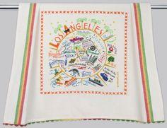 Los Angeles dish towel by Catstudio
