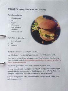Linda sin kyllingburger Parmesan, Food, Basil, Eten, Meals, Diet