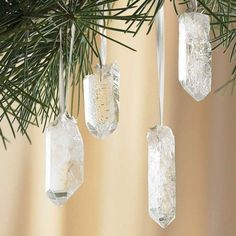 Imagine how these pretty crystals will catch the light on your Christmas tree.