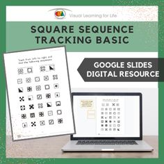This digitally interactive resource is designed for use with Google Slides. This resource contains 10 slides in total. Answer sheets are included.The student must find the same square sequences as the examples at the top of the page, and drag the orange blocks to mark the correct answers.