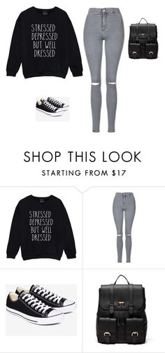"""Untitled #35"" by shortiiiee on Polyvore featuring Topshop, Converse and Sole Society"